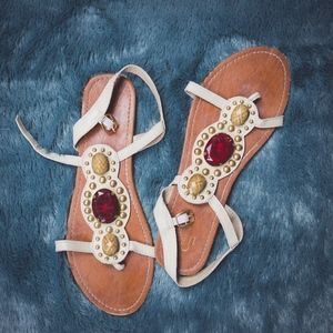 Shoes - Jeweled and Studded Sandals